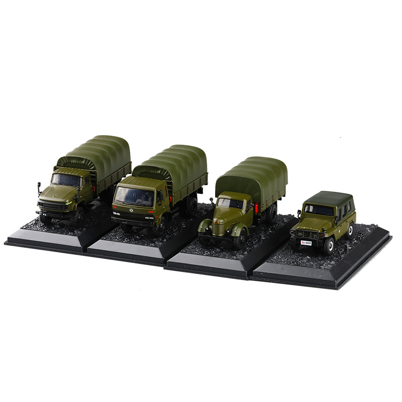 JKM 1:64 China Military Vehicle JieFang CA10 JieFang CA141 DongFeng Cummins Truck 1:59 Beijing Jeep 212 Diecast Model Car