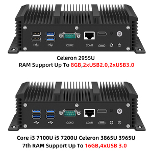 Image 4 - Mini PC Intel Core i5 7200U i3 7100U i7 6 LAN 210at Gigabit Ethernet HDMI 2 * RS232 Firewall Router PFsense Aes Ni Pocket Computer WLAN 6 Router Celeron 2955U 3865U 3965U Lüfterlos Windows 10 7 DDR3L Desktop Industrial