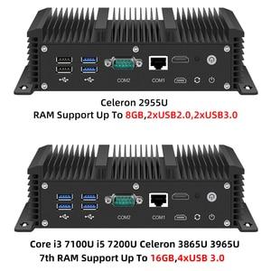 Image 4 - Mini Pc Intel Core i5 7200U i3 7100U i7 6 LAN 211at Gigabit Ethernet HDMI 2*RS232 Firewall Router PFsense Aes Ni Pocket Computer