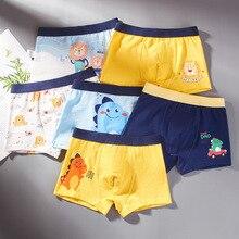 Boys Boxer Briefs Underpants Teenager Baby-Boy Kids Cartoon Cotton Children 4pcs/Lot