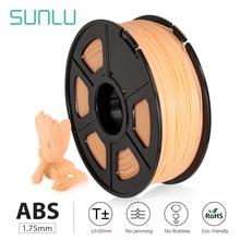SUNLU Plastic ABS 3D Filament 1.75mm 1kg For 3D Printer ABS 3D Printing Materials Accuracy Dimensional +/-0.02mm