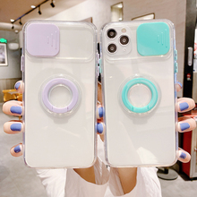Lens Protection Case For iPhone 11 Pro Max Cases Transparent On iPhone 12pro XR X XS 7 8 Plus 12Mini Holder Ring Soft Back Cover