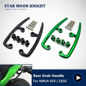 Motorcycle Rear Grab Bars Rear Seat Pillion Passenger Grab Rail Handle For Kawasaki NINJA650 NINJA 650 Z650 Z 650 2017 2018 2019