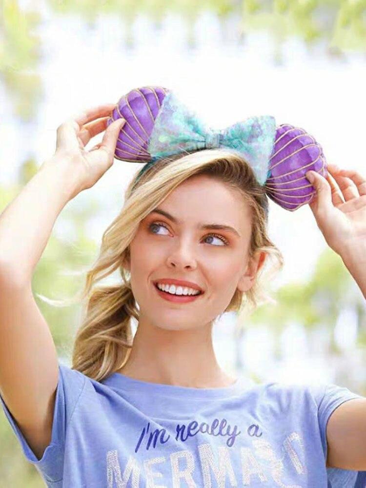 Disney Headband Hair-Accessories Minnie Mouse Mickey Baby-Girl Cartoon Ear for Hawaii