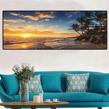 Картина маслом на холсте sunsets натуральная морская пляжная