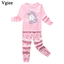Vgiee Children Boys Girls Clothes Fall Winter Full Cotton Unisex Pattern for Unicorn Baby Kids Girl Set CC643