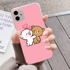 Image 2 - YNDFCNB Milk Mocha bear Phone Case for iPhone 11 12 pro XS MAX 8 7 6 6S Plus X 5S SE 2020 XR fundas