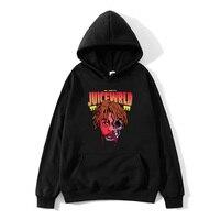 2020 schwarz und weiß rot farbe J UICEWrld hoodie sweatshirt saft wrld saft wrld juicewrld falle rap regenbogen glitch saft welt