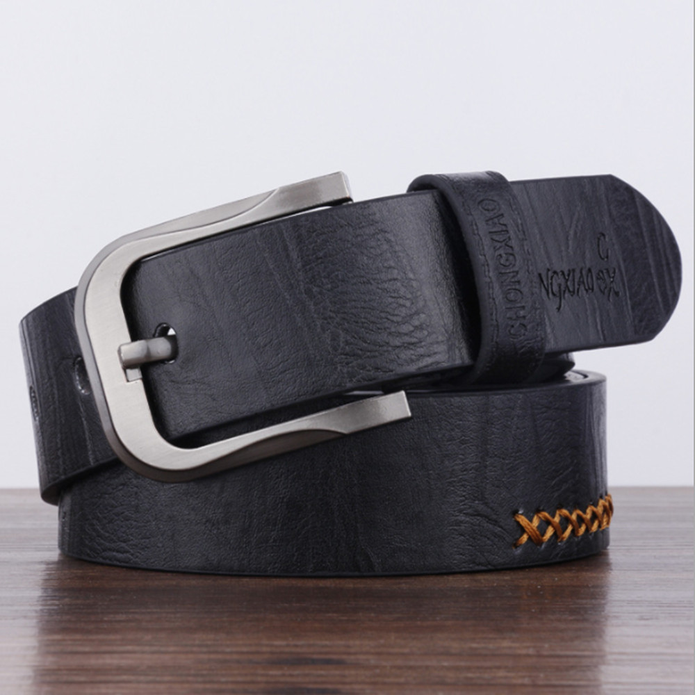 High Quality Leather Luxury Strap Male Belts For Men New Fashion Classice Vintage Pin Buckle Men Belt