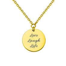 AILIN Custom Carved Coin Necklace For Women Fashion Gold Color Medallion Necklace Pendant Long Disc Necklaces Religion Gifts цена 2017
