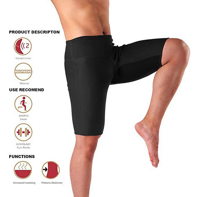 2019 New Mens Weight Loss Sauna Sweat Thermo Shorts Body Shaper Athletic Yoga Gym Shorts Male Summer Sports Shorts