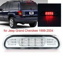 Para jeep grand cherokee 1999-2004 led luz da cauda terceira lâmpada traseira do freio 3rd montagem traseira led addtional luz de freio