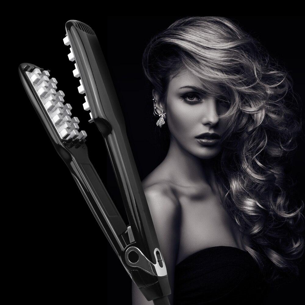 Professional Fluffy Hair Straightener Ceramic Styling Volumizing Straight Hair Flat Irons Heating MCH Curler Steamer Hair Tool