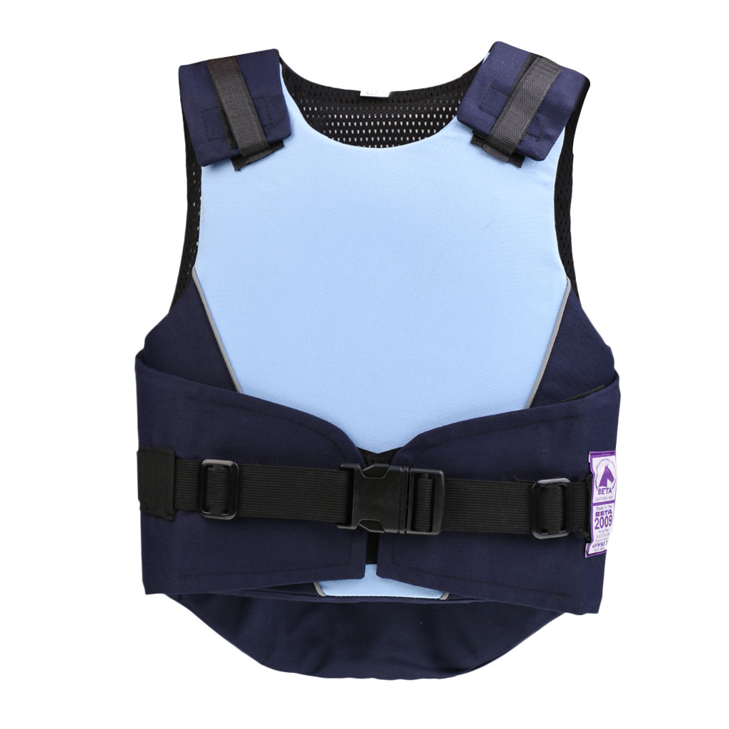 Kids Horse Riding Vest Safety Eventing Equestrian Body Protector Blue/Pink, 3 Sizes