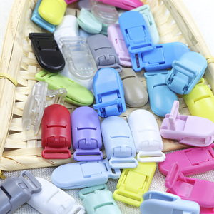 Image 5 - בובו. תיבת 100Pcs תינוק מוצץ קליפ פלסטיק תינוק מוצץ בעל מוצץ תינוקות צבעים Dummy קליפ פטמה מחזיק תינוק מוצץ