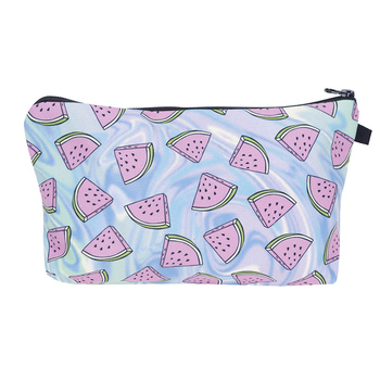 Ladies New Fashion Makeup Bags Banana Watermelon Fruits Printing Multicolor Zipper Travel Pouch Women Cosmetic