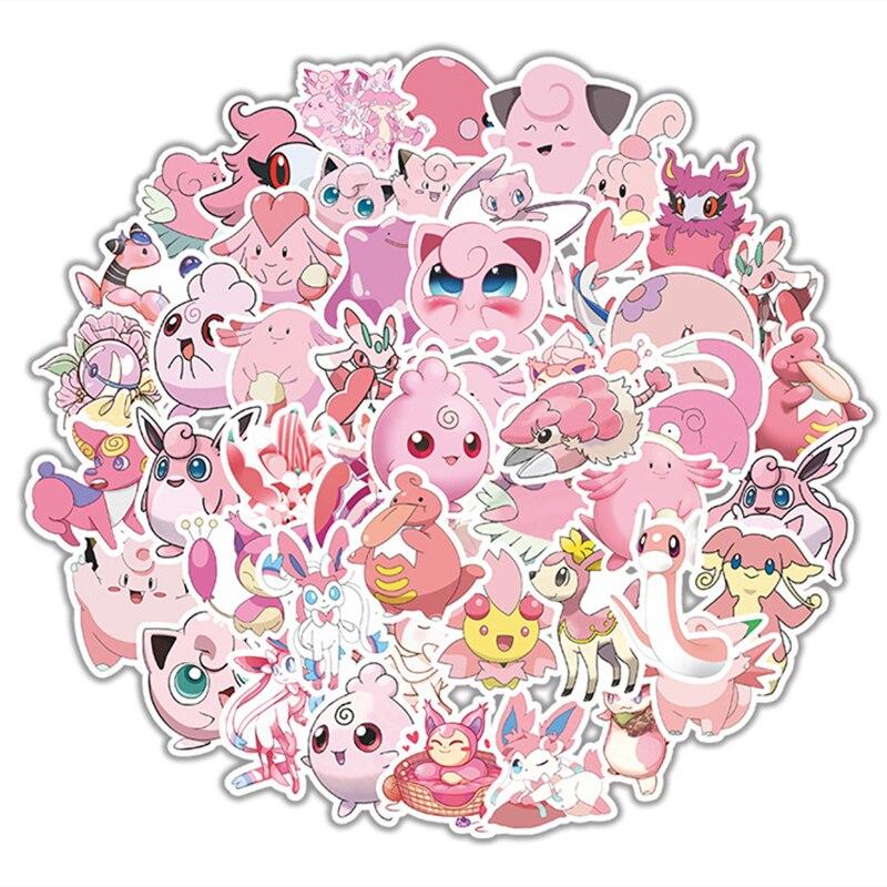Juguete de Pokémon, pegatina de graffiti, monopatín, teléfono móvil, tableta autocollante, pegatinas de Pikachu, PVC