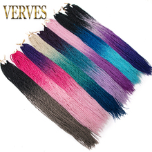 VERVES Crochet braids Ombre Senegalese Twist Hair 30 Roots/pack 24 inch Synthetic Braiding for Women grey,bonde,pink,brown