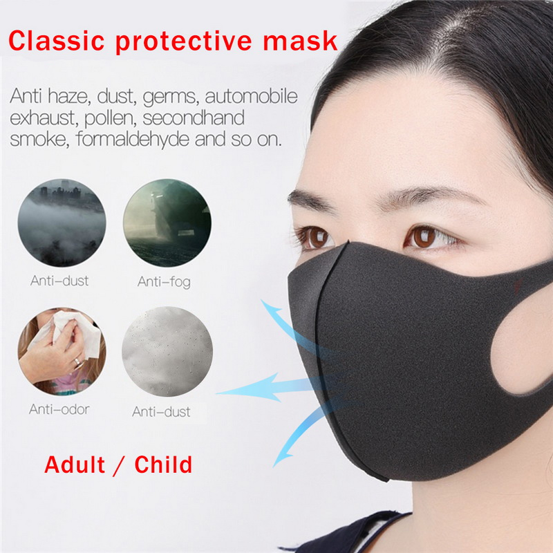 Multiple Colour Sponge PM2.5 Mask Dust Mask On The Mouth Bacteria Proof Flu Dust Washable Windproof Mouth Mask Reusable Masks