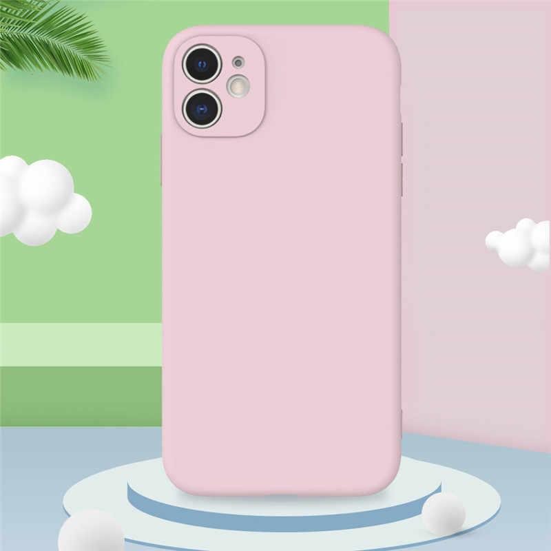 Ottwn Fashion Solid Color Silicon Phone Case For iPhone 11 11Pro Max X XR XS Max 7 8 6 6s Plus Simple Matte Soft TPU Back Cover
