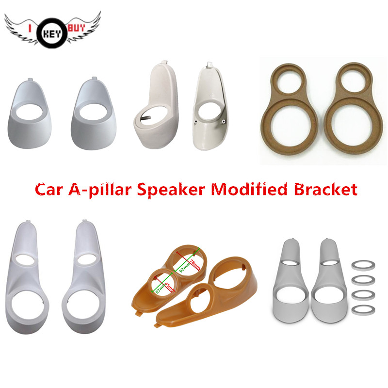 1 Pair Car Speaker Modified A-pillar Tweeter Bracket Wood Gasket For 2inch 3inch  3 5inch 3 8inch 4 inch Speakers modified  Plastic Stand