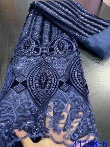 Image 5 - Горячая Распродажа бархатная кружевная ткань 2020, Высококачественная африканская кружевная ткань с блестками, французская кружевная ткань для вечернего платья APW3475B