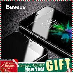 Baseus vidrio templado para iPhone 8 8 Plus Protector de pantalla Ultra fino 9H vidrio Protector para iPhone 7 7 Plus película de cobertura completa
