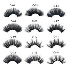 25mm Mink False Eyelashes Natural/Thick Long Eye Lashes Silk Protein Wispy Makeup Beauty Extension Tools Dense