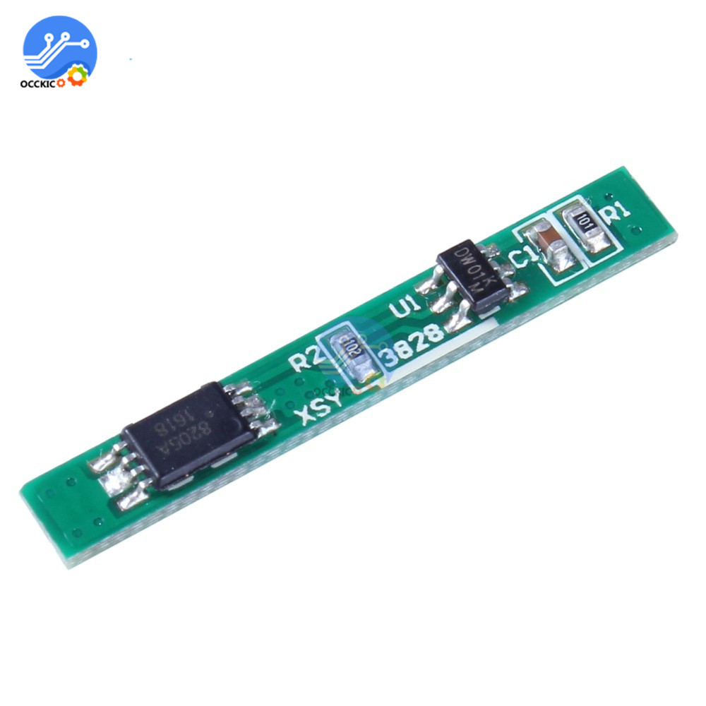 10Pcs 1S 18650 Lithium Battery Charger Protection Board 3.7V 2.5A Li-ion BMS PCM OverCurrent Protective Circuit Board Wholesales