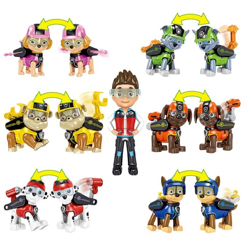 Paw Patrol 7pcs / Set Spielzeug Hund kann Captain Ryder Paw Patrol - Druckguss- und Spielzeugfahrzeuge - Foto 5