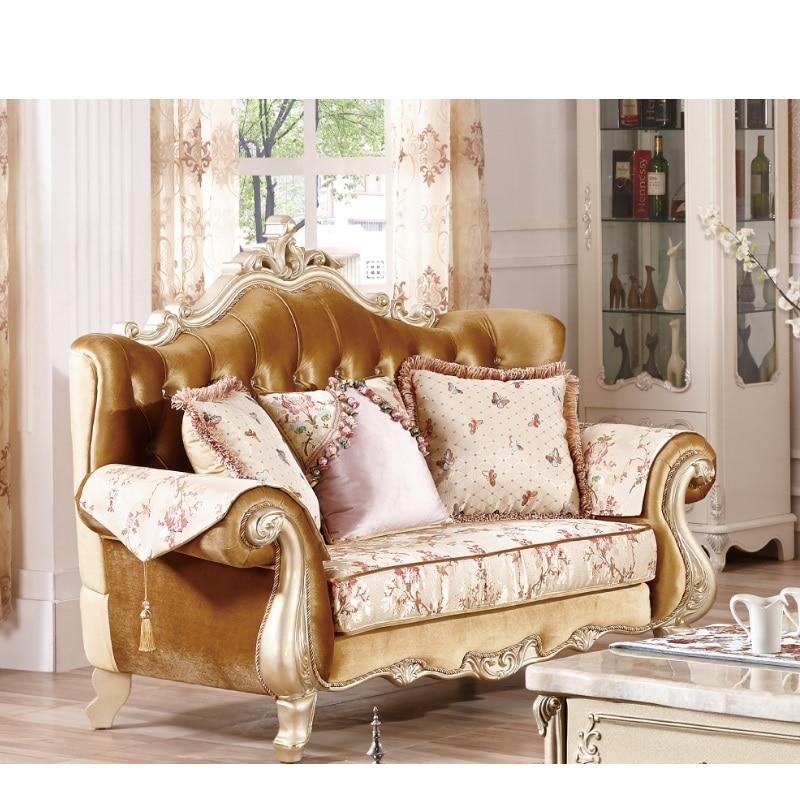 Luxury Furniture Velvet Sofa Set Wooden
