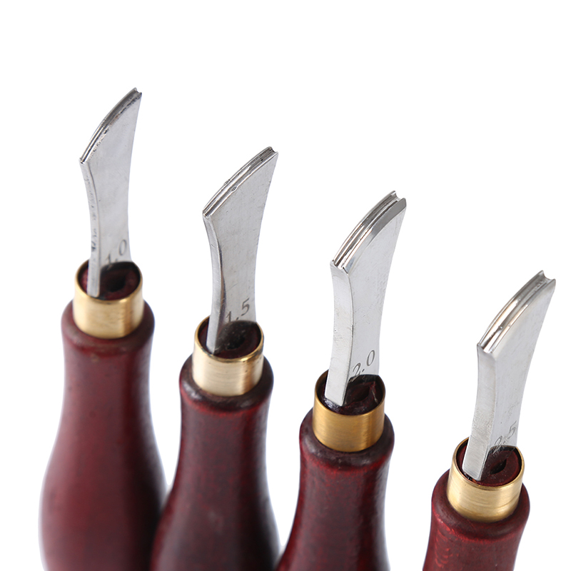 1PC Leather Arch Edge Sector Shallow Groove Edges Cold And Hot Pressure Line Punch Embedding Thread Leathercraft Tools 1.0-2.5mm