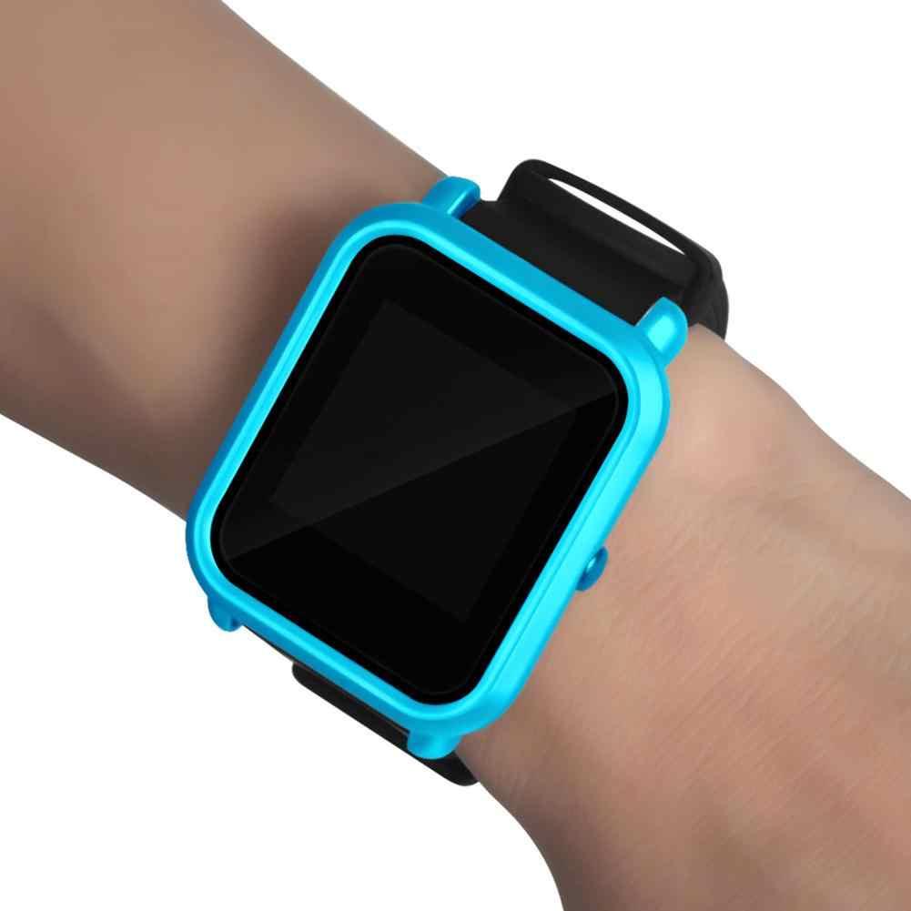 Saat kapağı için Amazfit Bip S akıllı saat aksesuar Scratch renkli yumuşak kılıflar silikon koruyucu kapak koruma kılıfı