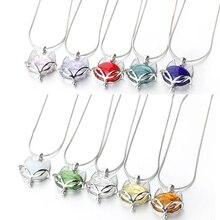 цена на 1pcs 40cm Fox Diffuser Perfume Refillable Coloured handmade Essential Oil Aromatherapy Bottle Pendant Necklace pendant necklace