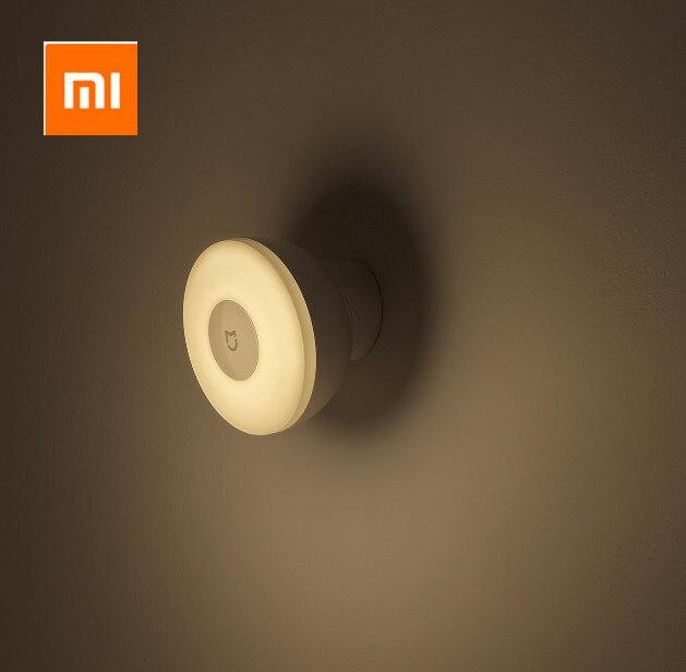 Xiaomi Mijia Luz Led nocturna de inducción, 2 lámparas, brillo ajustable, sensor infrarrojo inteligente de cuerpo humano con base magnética