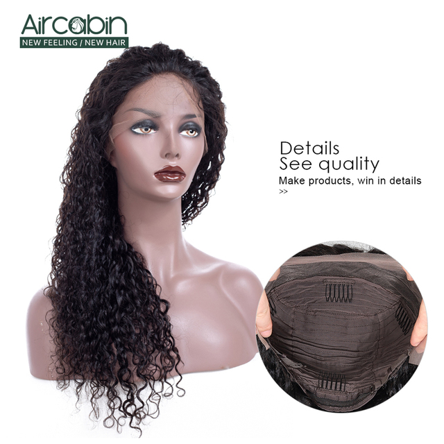 "AirCabin 13x4 Brazilian Kinky Curly Lace Front Wigs 12""-24"" Pre-Plucked Remy Hair Wig with Baby Hair Lace Front Human Hair Wigs 2"