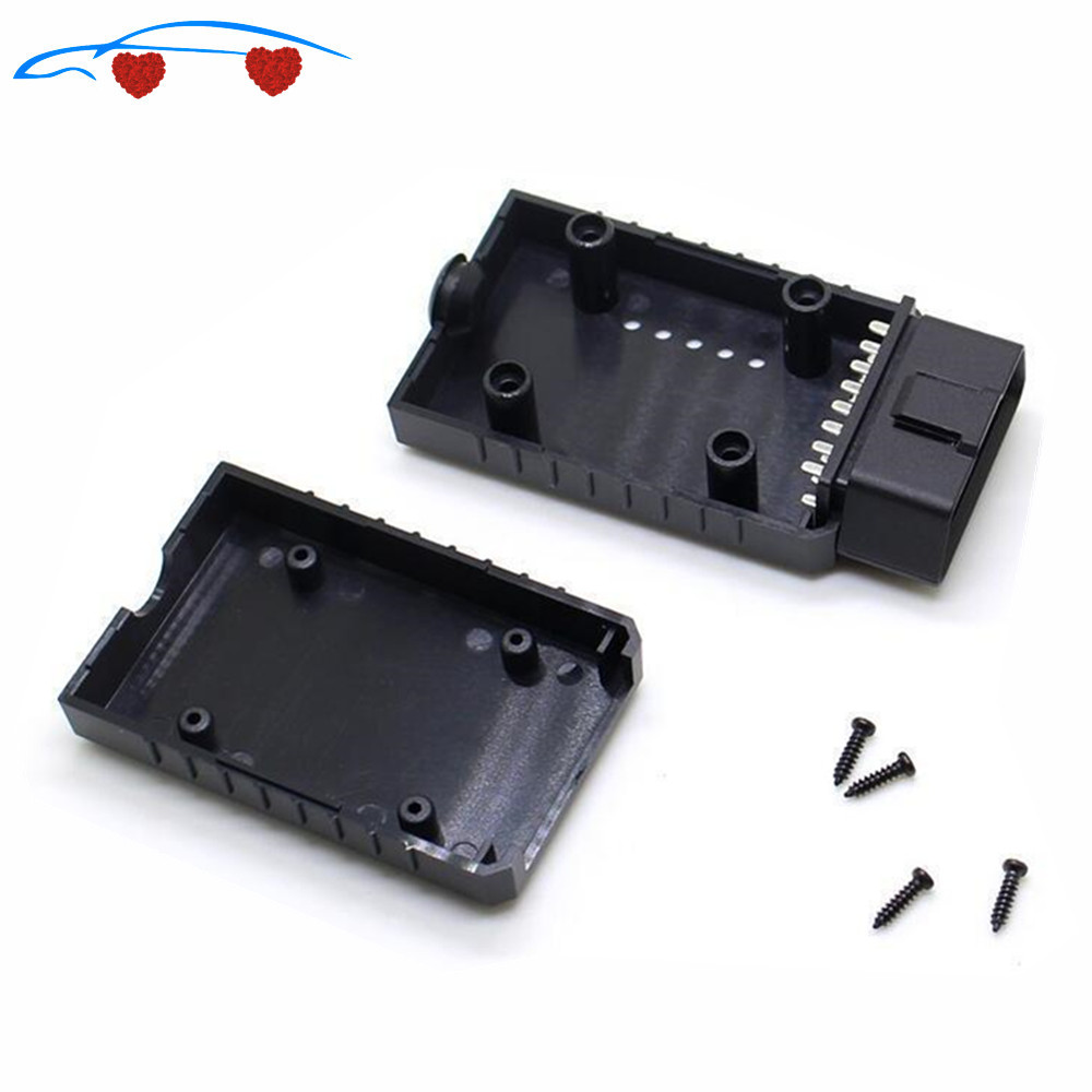 ELM327 OBD2 Connector Cover With Enclosure J1962m Plug With Enclosure 16pin Male Connector DIY Tool