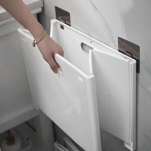 Foldable Laundry Basket Punch-free Baby Bathroom Plastic Household Storage Bin Car Trash Can Portable Drive Bin Car Organizer