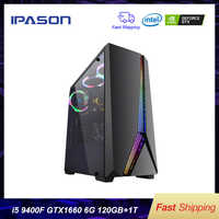 Intel Desktop Gaming PC P24 i5 9400F 6-core/Scheda Dedicata GTX1660 6G/ASUS B365M/ 1T + 120G SSD/8G DDR4 RAM PUBG gaming Desktop PC