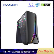 Intel Desktop Gaming PC P24 i5 9400F 6-core/Gewijd Kaart GTX1660 6G/ASUS B365M/ 1T + 120G SSD/8G DDR4 RAM PUBG gaming Desktop PC(China)