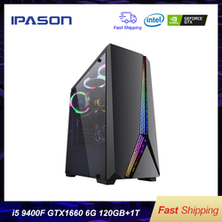 Intel Desktop Gaming PC P24 i5 9400F 6-core/Scheda Dedicata GTX1660 6G/ASUS B365M/ 1T + 120G SSD/8G DDR4 RAM PUBG gaming Desktop PC