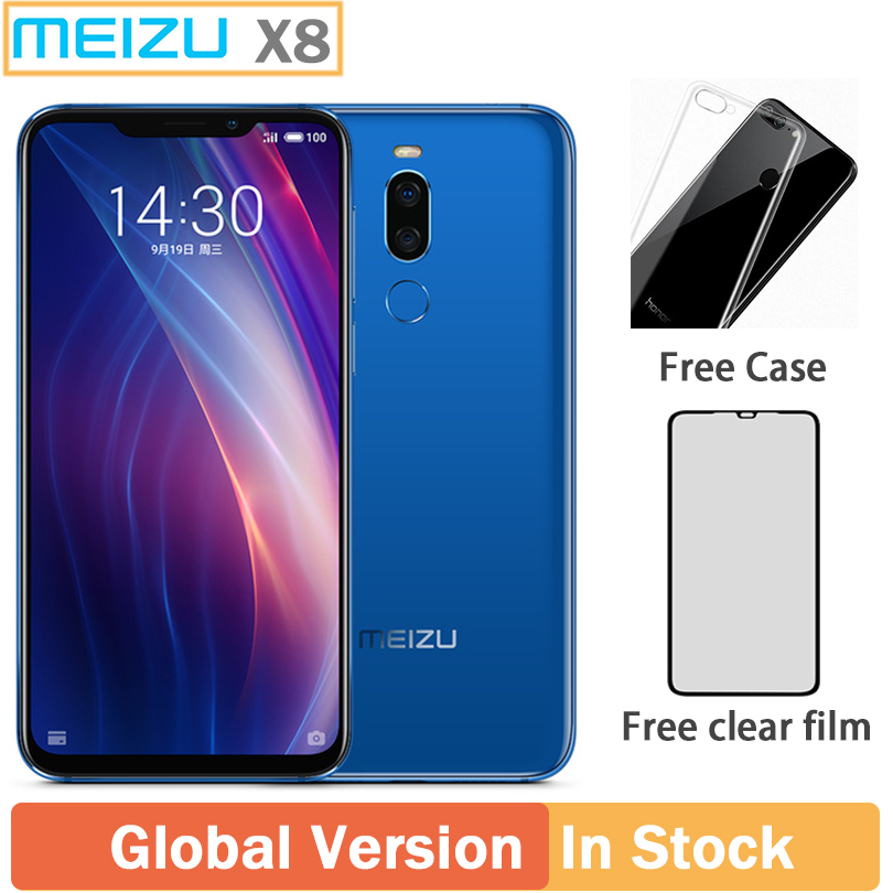 Original Meizu X8 4G 64G 4G LTE Cell Phone Snapdragon 710 Octa Core 6.2'' 2220 X 1080P Dual Rear Camera 3210mAh Fingerprint