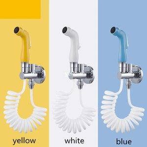 Домашний распылитель для туалета высокого давления для ванной комнаты, смывной кран, набор для унитаза, биде, анальная Чистка, душ, подгузни...