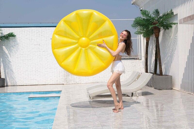 Piscina inflável super grande redonda laranja limão