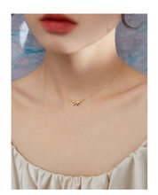 925 sterling silver necklace with new retro champagne gold bow clavicle chain ins creative jewelry for wedding party