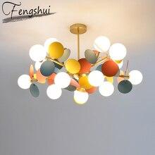 Lampe suspendue en fer, design moderne, luminaire coloré, luminaire décoratif dintérieur, idéal pour un salon, une chambre à coucher, une salle à manger, un Loft, pendentif LED