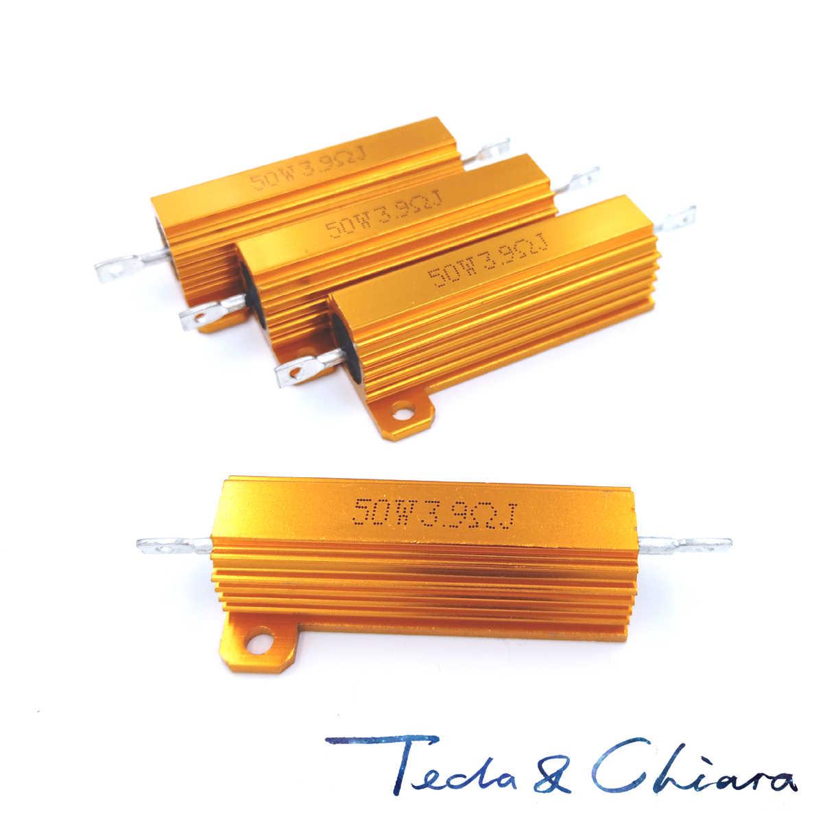 10x 6r 6 Ohm 5/% 100w cable-resistencia oro anodizado 6e