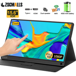 15.6 Inch Touch Screen Portable Monitor with Battery & Wifi for Phone Ps4 Xbox Switch Gaming Display PC LAPTOP LCD Monitor 1080