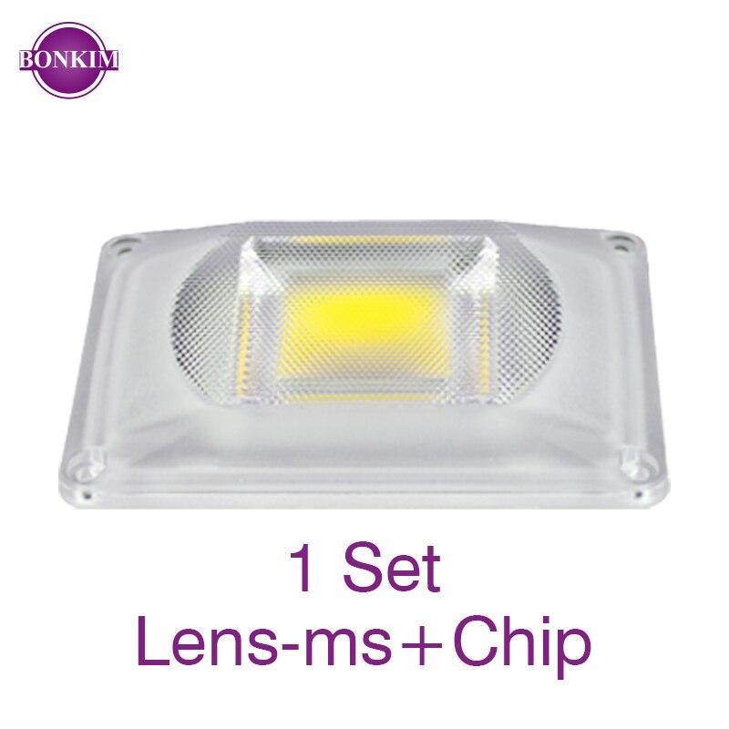 LED Lens Smart Chip Set 220V 110V Grow Light Warm White Waterproof Frosted Reflector Lens No Welding Spotlight Chip DIY Lighting