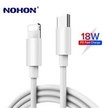 18w pd cabo de carregamento rápido cabo de dados usb para iphone 11 pro xs max xr x 8 mais carregador rápido tipo-c para cabos de iluminação 1m 2m